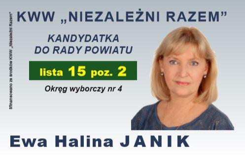 Wybory 2018 - Ewa Janik