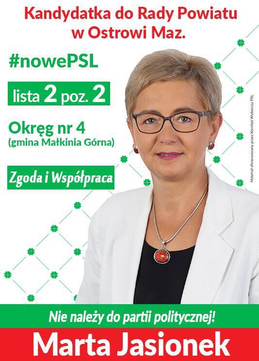 Wybory 2018 - Marta Jasionek