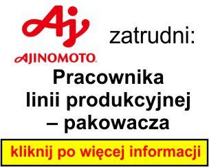 Ajinomoto - Pracownika linii produkcyjnej – pakowacza