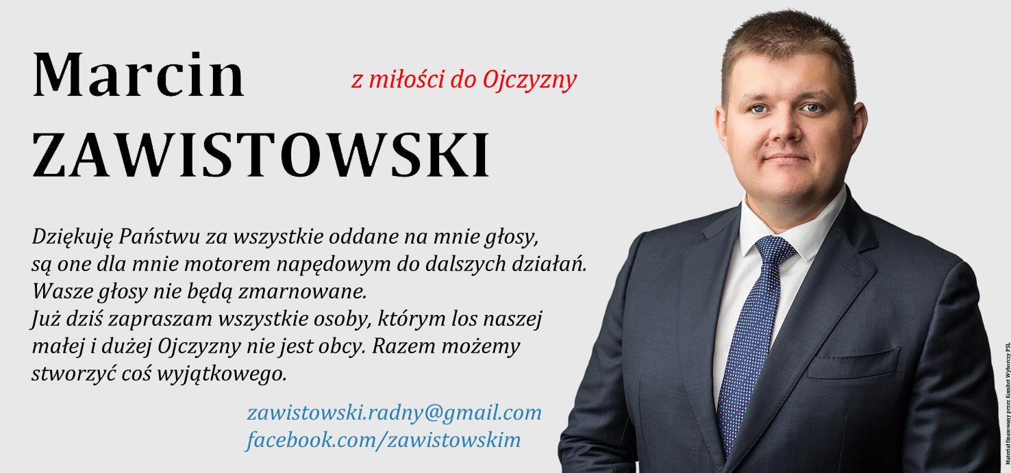 Podziękowanie po wyborach - Marcin Zawistowski
