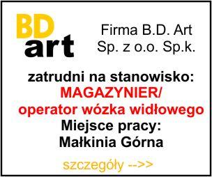 BD Art - magazynier - operator wózka widłowego