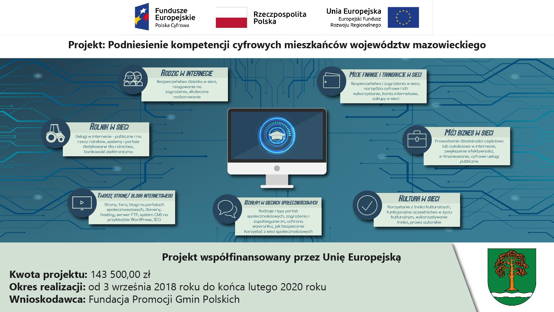 Projekt Podniesienia Kompetencji Cyfrowych w Gminie Małkinia Górna